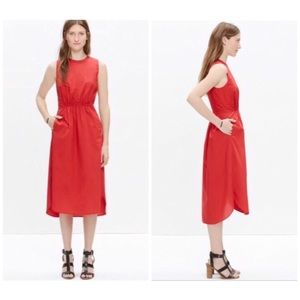 Madewell Red Cotton Lakeshore A like Dress